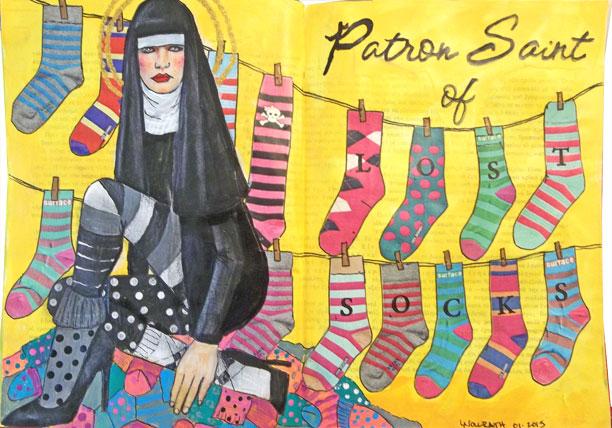 Patron Saint of Lost Socks