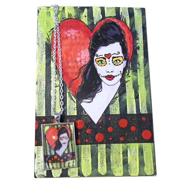 Make 100: Handmade Heart Postcards