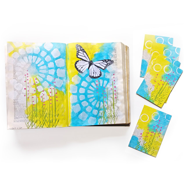 Spring Garden Pages & Postcards