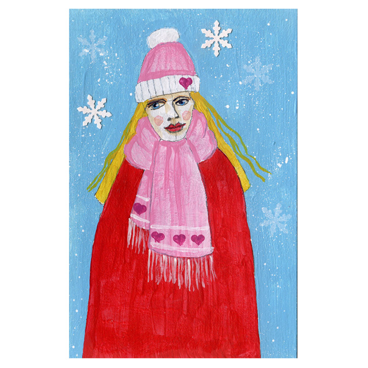 Winter Figure Postcards