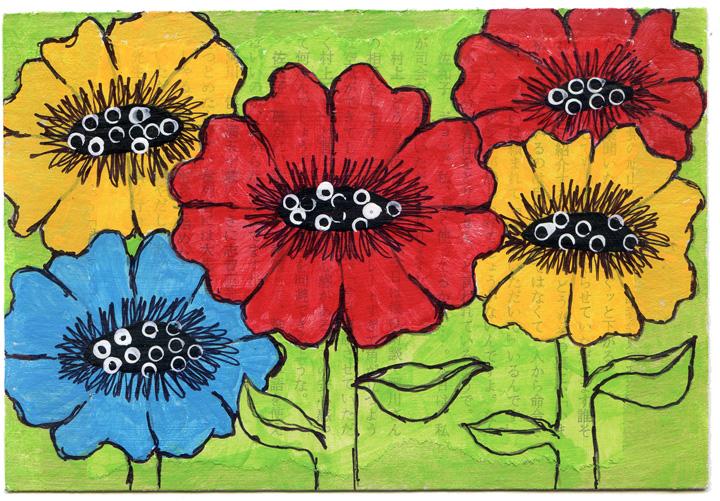 Bright Flower Postcards