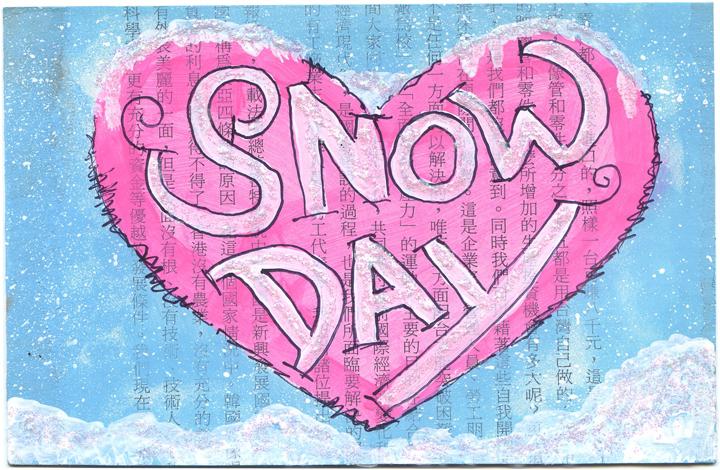 Snow Day Postcards